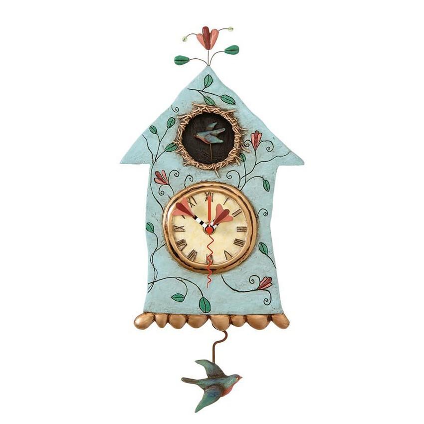 wanduhr haus vogel fly bird clock von michelle allen. Black Bedroom Furniture Sets. Home Design Ideas