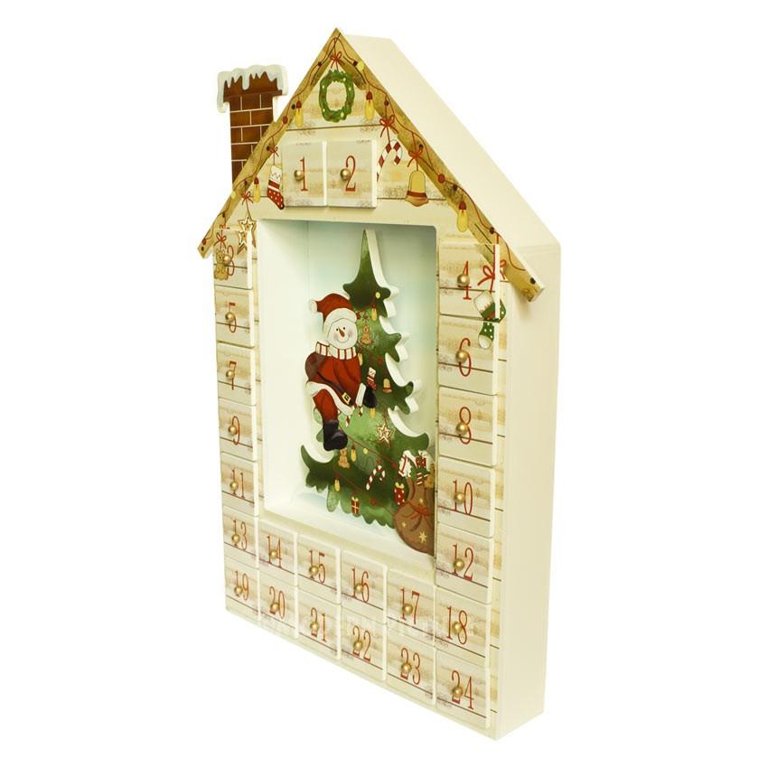 adventskalender aus holz handarbeit weihnachtskalender mit 24 schubladen zum bef llen. Black Bedroom Furniture Sets. Home Design Ideas