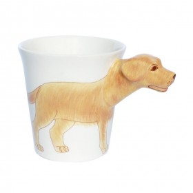 Kaffeetasse Teetasse Hund Golden Retriever handbemalt
