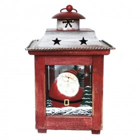 laterne teelicht lampe mit weihnachtsmotiven rot weihnachten ebay. Black Bedroom Furniture Sets. Home Design Ideas