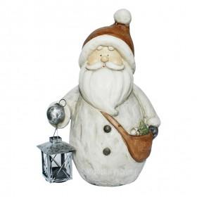 weihnachten weihnachtsmann mit teelicht als laterne 40 cm. Black Bedroom Furniture Sets. Home Design Ideas