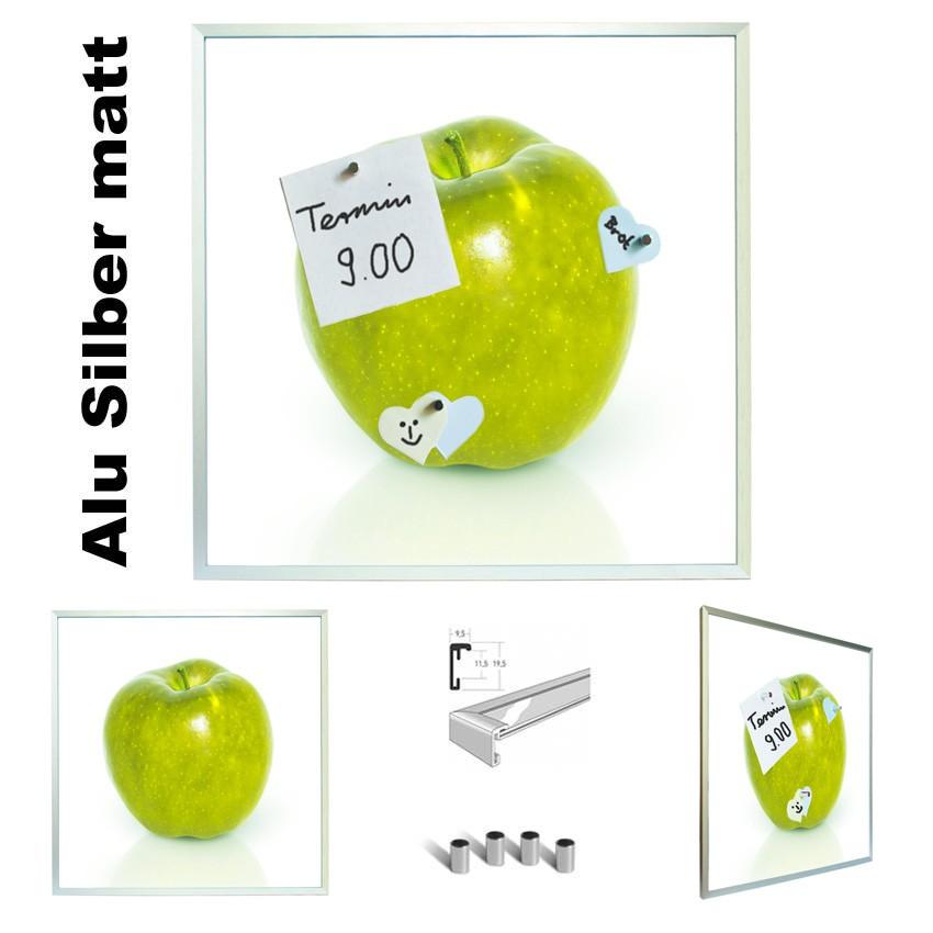 magnetpinnwand apfel gelb küche memoboard mit verschiedenen rahmen