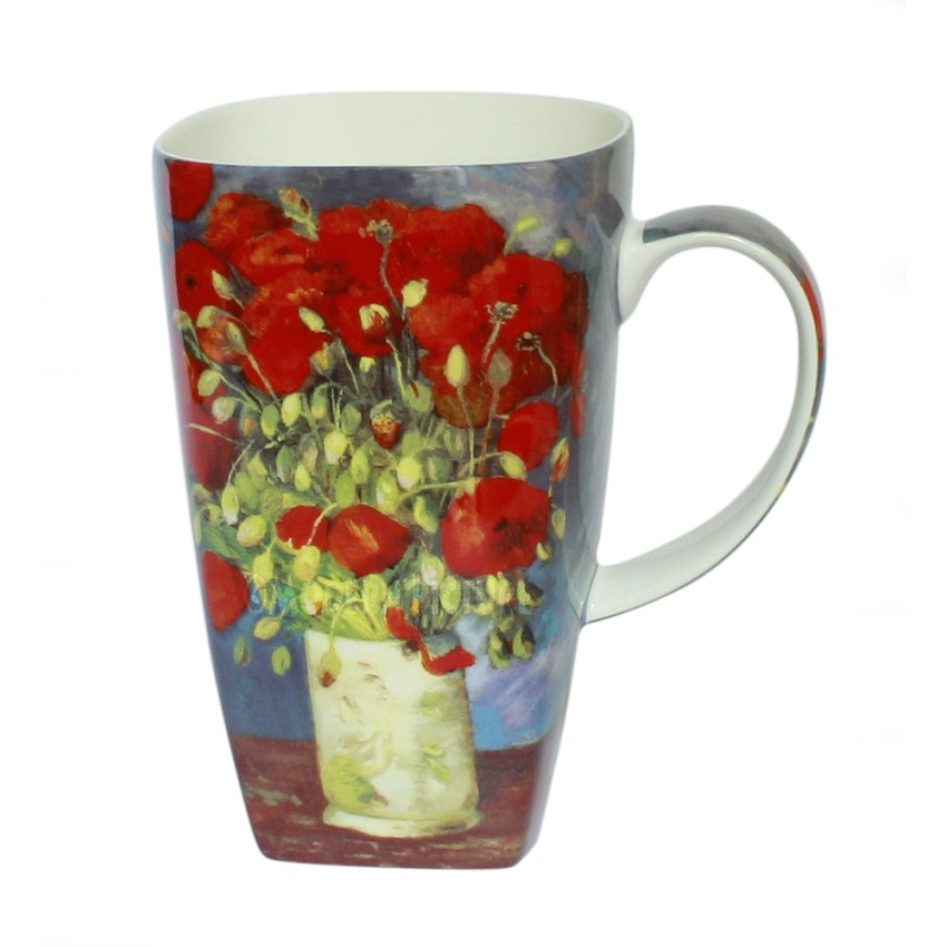 tasse vincent von gogh blumenstrauch kaffeetasse mit geschenkverpackung. Black Bedroom Furniture Sets. Home Design Ideas