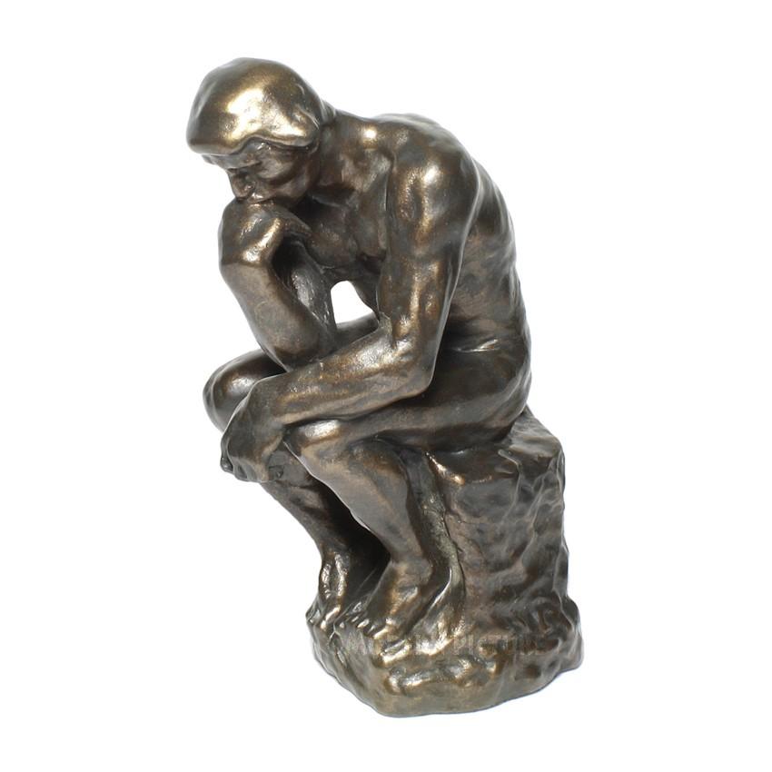 Auguste Rodin Der Denker Skulptur 26 Cm Hoch In Bronzeoptik