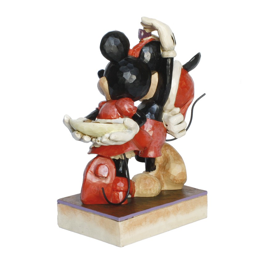 mickey mouse und minnie mouse weihnachten von jim shore. Black Bedroom Furniture Sets. Home Design Ideas