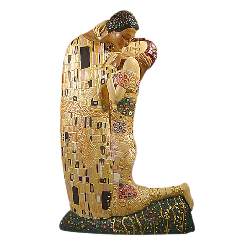 gustav klimt der kuss skulptur figur. Black Bedroom Furniture Sets. Home Design Ideas