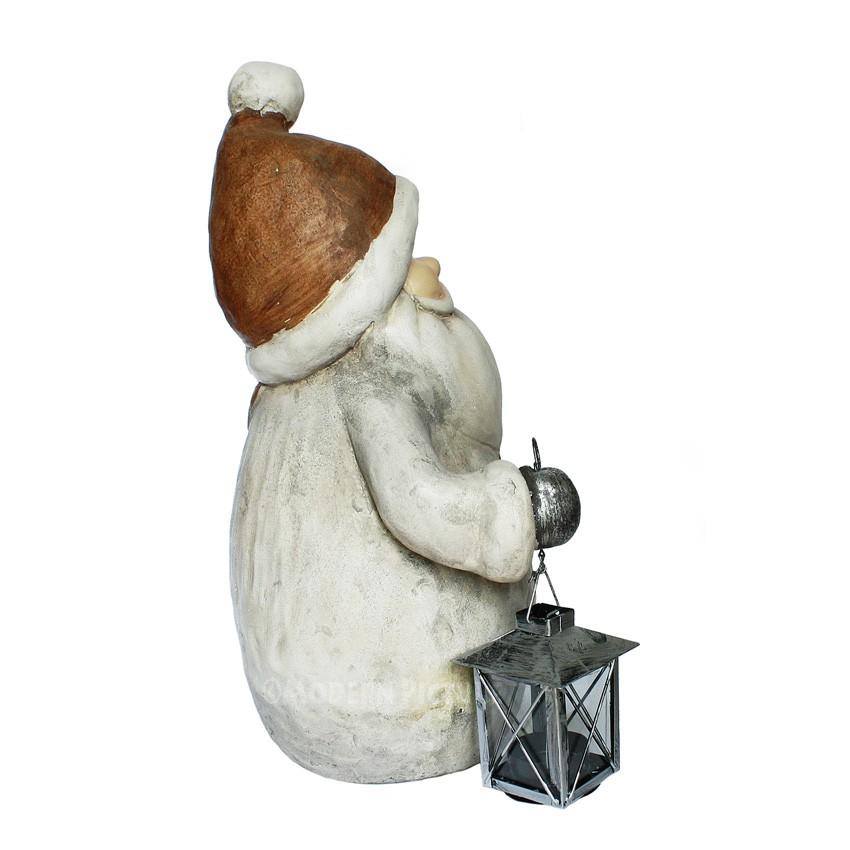 weihnachten weihnachtsfigur weihnachtsmann mit laterne und. Black Bedroom Furniture Sets. Home Design Ideas