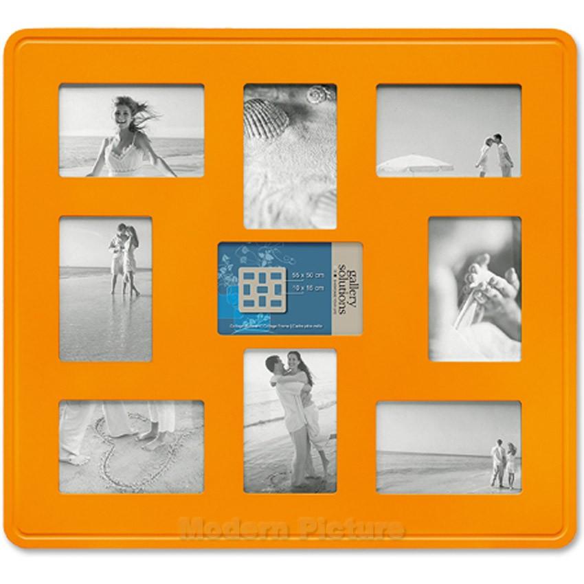 fotorahmen collage orange 9 bildausschnitten f r 10x15 bilder. Black Bedroom Furniture Sets. Home Design Ideas
